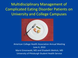 American College Health Association Annual Meeting June 4, 2010