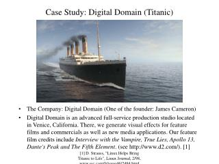 Case Study: Digital Domain (Titanic)