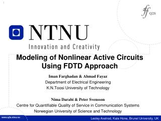 Modeling of Nonlinear Active Circuits Using FDTD Approach