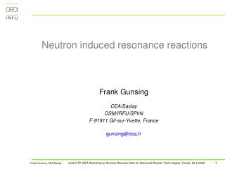 Neutron induced resonance reactions