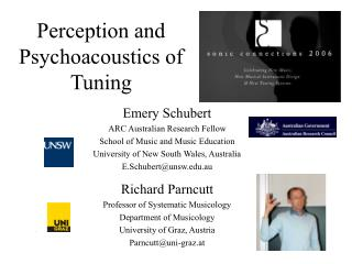 Perception and Psychoacoustics of Tuning