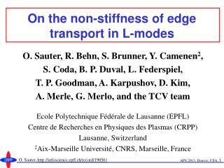 On the non-stiffness of edge transport in L-modes