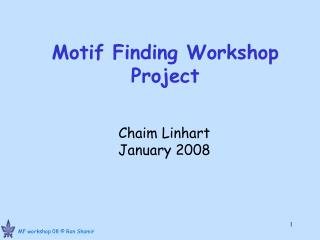Motif Finding Workshop Project