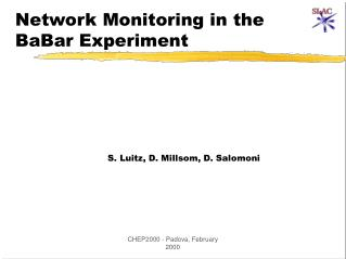 Network Monitoring in the BaBar Experiment