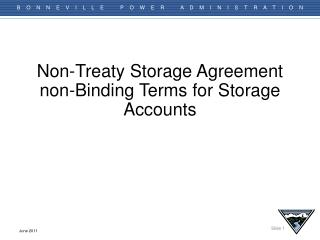 Non-Treaty Storage Agreement non-Binding Terms for Storage Accounts