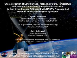 SMAP Science Objectives