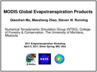 MODIS Global Evapotranspiration Products
