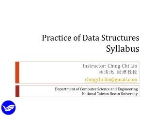 Practice of Data Structures Syllabus
