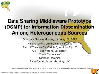 Data Sharing Middleware Prototype (DSMP) for Information Dissemination Among Heterogeneous Sources