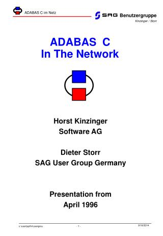 ADABAS  C  In The Network
