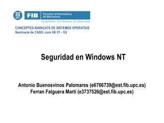 Seguridad en Windows NT