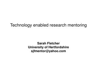 Technology enabled research mentoring