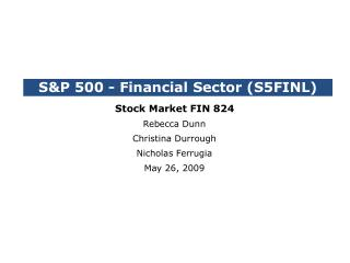 S&P 500 - Financial Sector (S5FINL)