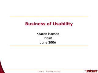 Business of Usability