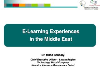 E-Learning Experiences  in the Middle East