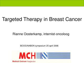 Targeted Therapy in Breast Cancer