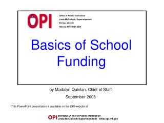 Basics of School Funding