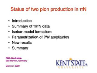 Status of two pion production in  π N