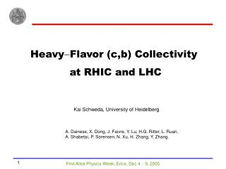 Heavy - Flavor (c,b) Collectivity  at RHIC and LHC