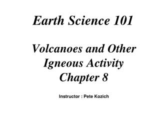 Earth Science 101