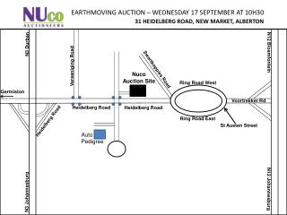 EARTHMOVING AUCTION – WEDNESDAY 17 SEPTEMBER AT 10H30 31 HEIDELBERG ROAD, NEW MARKET, ALBERTON