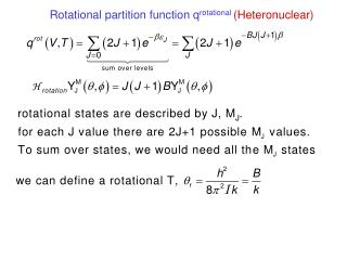 Rotational partition Function, heteronuclear