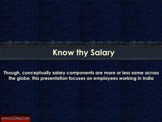 Know Your salary
