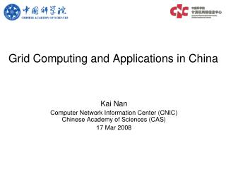 Grid Computing and Applications in China