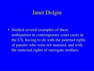 Janet Dolgin