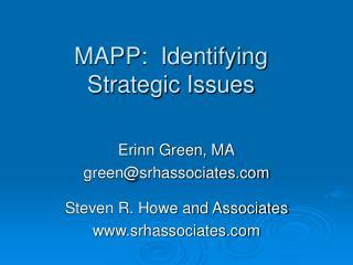MAPP: Identifying Strategic Issues