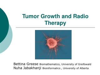 Tumor Growth and Radio Therapy