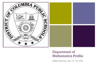 Department of Mathematics Profile