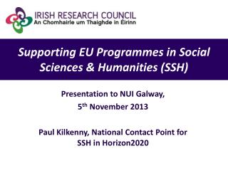 Supporting EU Programmes in Social Sciences & Humanities (SSH)