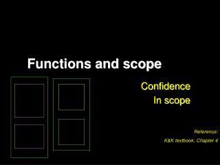 Functions and scope