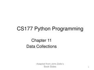 CS177 Python Programming