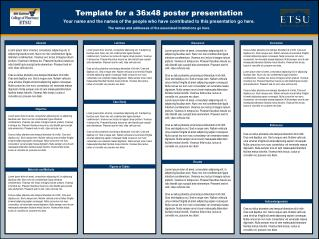 Template for a 36x48 poster presentation