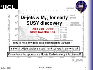 Di-jets & M T2  for early  SUSY discovery