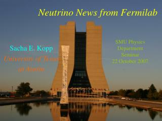Neutrino Flavor Oscillations at the Fermilab Main Injector