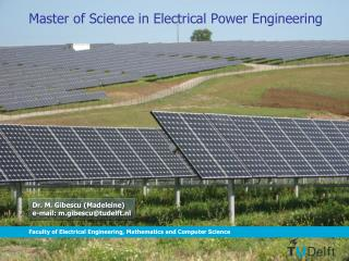 Master of Science in Electrical Power Engineering