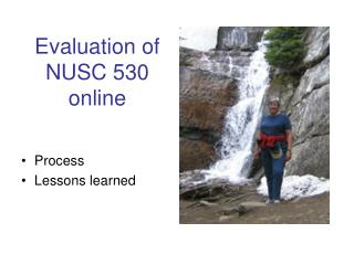 Evaluation of NUSC 530 online