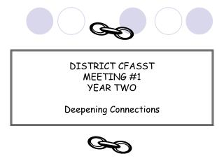 DISTRICT CFASST  MEETING #1 YEAR TWO Deepening Connections