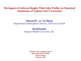 The Impact of Airborne Doppler Wind Lidar Profiles on Numerical