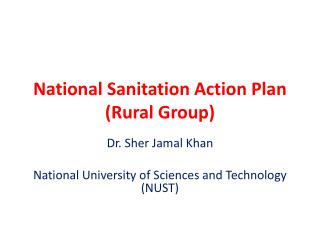 National Sanitation Action Plan (Rural Group)