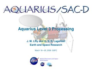 Aquarius Level 3 Processing