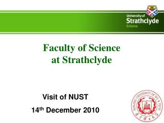 Faculty of Science  at Strathclyde