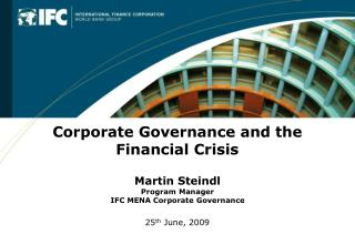Corporate Governance and the Financial Crisis