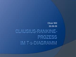 Clausius - Rankine -Prozess im  T-s -Diagramm