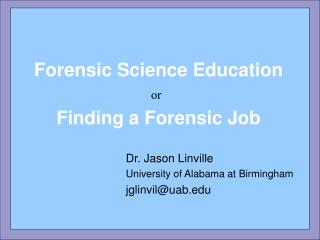 Forensic Science Education
