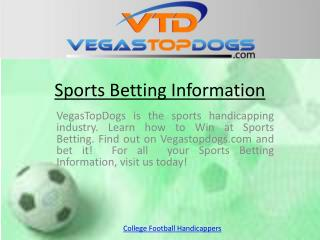 View College Football Handicappers Profiles