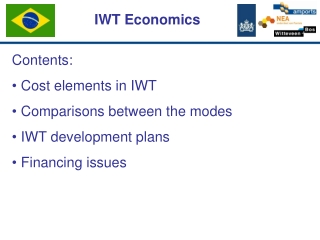 Contents: Cost elements in IWT Comparisons between the modes IWT development plans